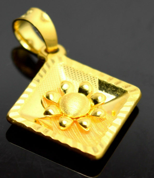 22k 22ct Solid Gold UNIQUE ELEGANT SQUARE Pendant Charm P74 | Royal Dubai Jewellers