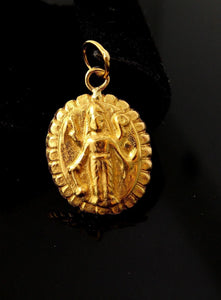 22ct 22k SOLID GOLD HINDU RELIGIOUS LORD VISHNU PENDANT P1060 ns | Royal Dubai Jewellers