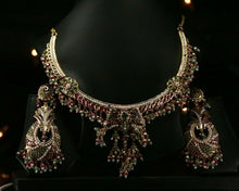 22k Beautiful Solid Gold Classic South Indian Necklace Set For Ladies LS139