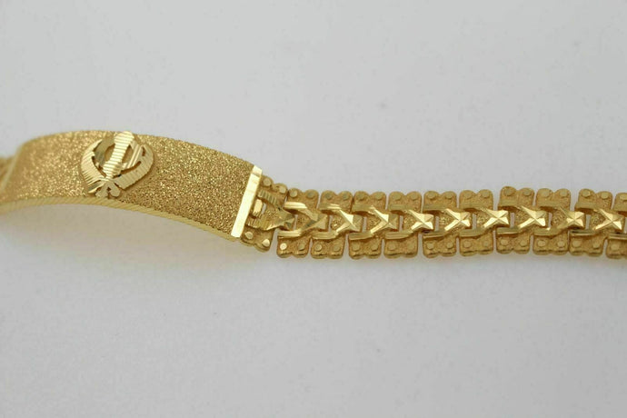 22k 22ct gold mens sikhi khanda bracelet b811 | Royal Dubai Jewellers