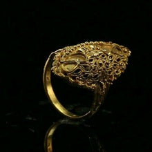 "22k 22ct Solid Gold ELEGANT Antique Ladies Ring SIZE 7.25 ""RESIZABLE"" r1998 