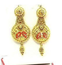 22k Earrings Solid Gold ELEGANT Classic Filigree Dangle Design e7323