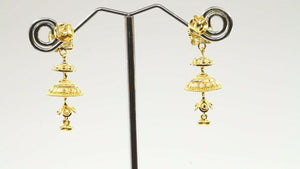 22k 22ct Solid Gold ELEGANT Simple Multi Level Dangle and Drop Design E6091 | Royal Dubai Jewellers