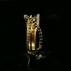 "22k Ring Solid Gold ELEGANT Charm Ladies Simple Ring SIZE 6.5 ""RESIZABLE"" r2616"