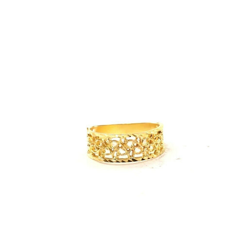 22ct 22k Solid Gold Elegant Diamond Cut Geometric Design Ladies Ring  R2065mon | Royal Dubai Jewellers