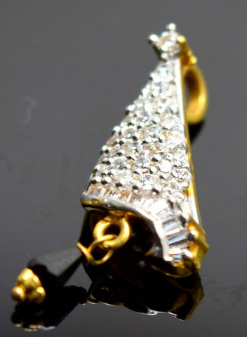 22k 22ct Solid Gold UNIQUE ELEGANT BEAUTIFUL Stone Pendant Charm P89 | Royal Dubai Jewellers