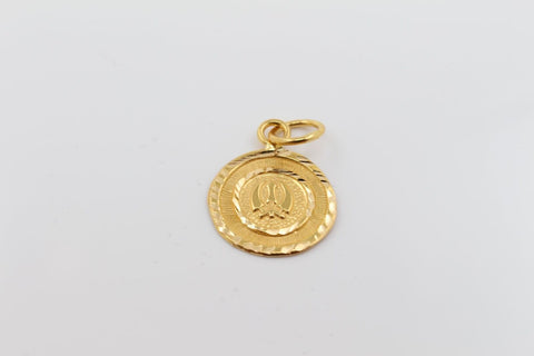 22k 22ct Solid Gold SIKH RELIGIOUS KHANDA ONKAR Pendant Locket p1017 ns | Royal Dubai Jewellers