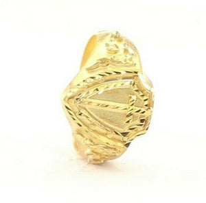 "22k Ring Solid Gold ELEGANT Charm Mens Medieval Band SIZE 1.25 ""RESIZABLE"" r2135 - Royal Dubai Jewellers"