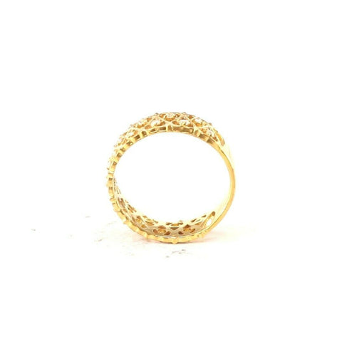 "22k 22ct Solid Gold ELEGANT Ladies Heart Simple Ring SIZE 7.5 ""RESIZABLE"" r2089 