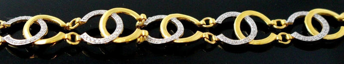 18k Jewelry Solid Gold ELEGANT Diamond Ladies Bracelet Modern Design  b859 | Royal Dubai Jewellers