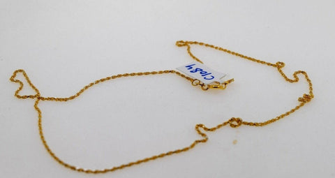 22k Chain Yellow Solid Gold Necklace Exquisite Modern Two Tone Rope Design c1081 | Royal Dubai Jewellers