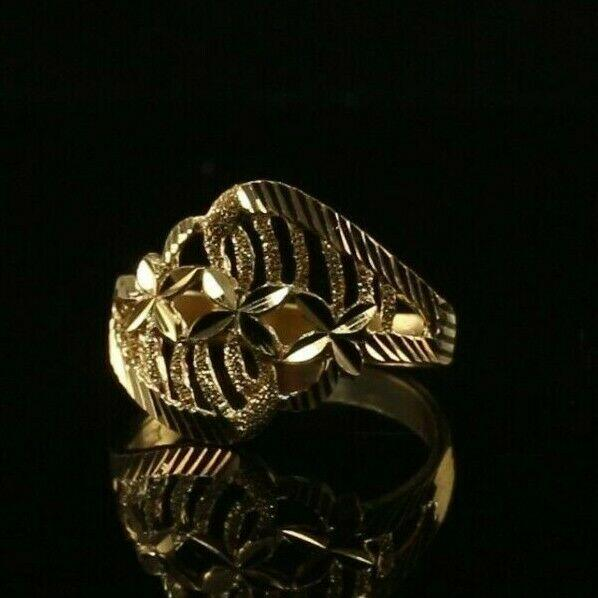 22k 22ct Solid Gold ELEGANT Charm Ladies Simple Ring SIZE 7.75