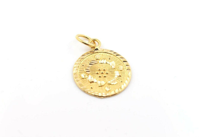 22k 22ct Solid Gold Elegant Charm Pendant Charm Locket Diamond Cut p1015 m | Royal Dubai Jewellers