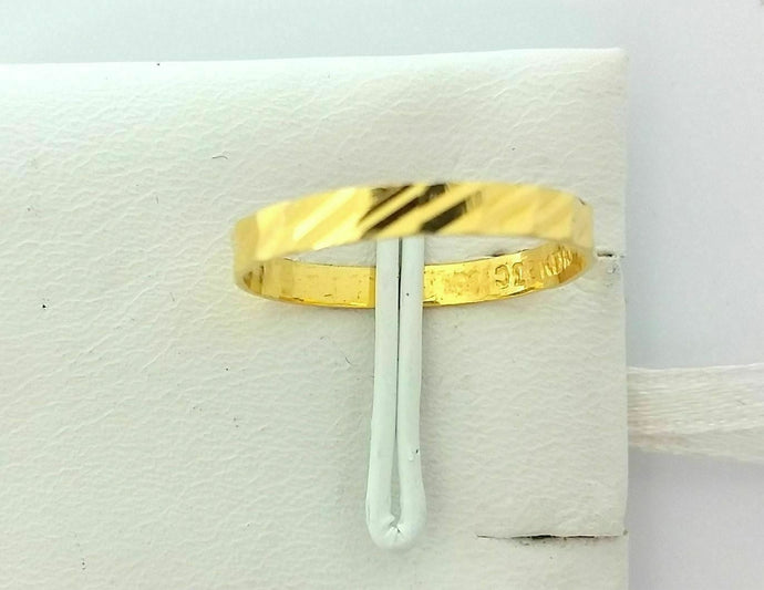 22k Jewelry Solid Gold Ring Size 6.25 custom size available Modern Design MF | Royal Dubai Jewellers