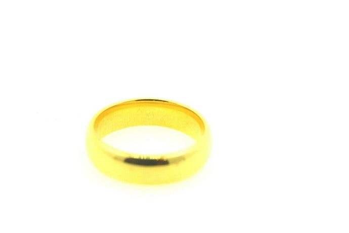 22k 22ct Solid Gold ELEGANT MENS Ring plain BAND with 18k BOX size 10 mf | Royal Dubai Jewellers