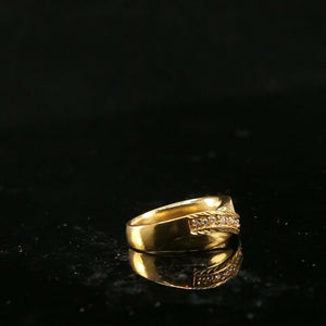 "22k Ring Solid Gold ELEGANT Charm Ladies Ring SIZE 5-3/4 ""RESIZABLE"" r2180"