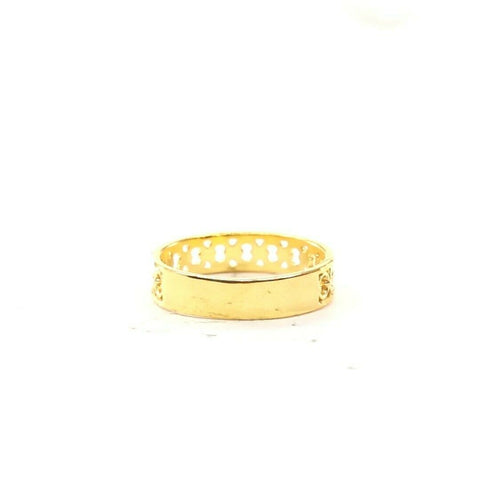 22ct 22k Solid Gold Elegant ROUND Design Ladies Ring Size R2072mon | Royal Dubai Jewellers