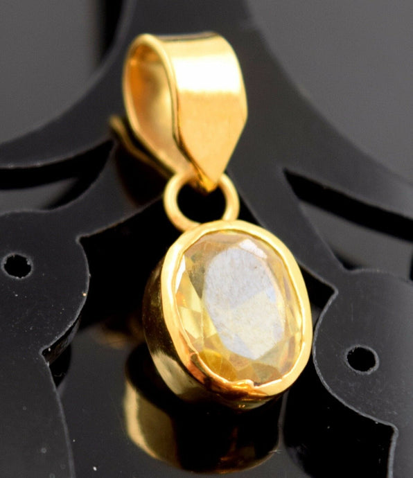 22k Jewelry Solid Gold ELEGANT Stone LOCKET Pendant P494 | Royal Dubai Jewellers