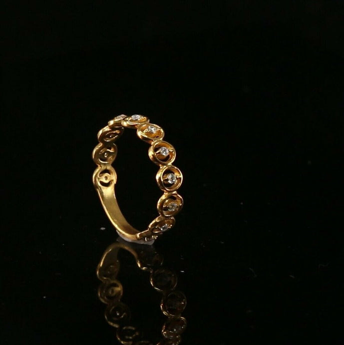 22k 22ct Solid Gold ELEGANT Charm Ladies Simple Ring SIZE 7.5