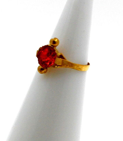"22k 22ct Solid Gold BEAUTIFUL BABY Ring Orange Stone SIZE 0.9 ""RESIZABLE"" r1231 