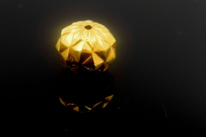22k Solid Gold ROUND BALL FINDINGS bead sphere spacer charm pendant clasp | Royal Dubai Jewellers