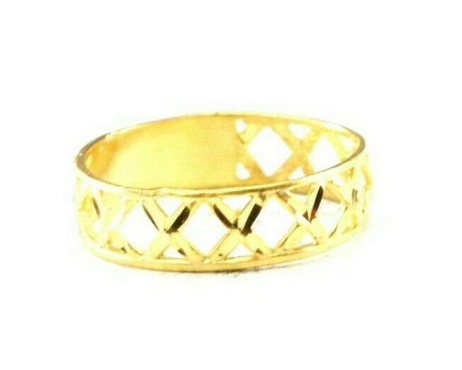 22k Ring Solid Gold ELEGANT Charm Ladies Band SIZE 11.5