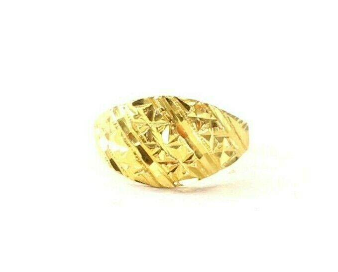 22k Ring Solid Gold ELEGANT Charm Ladies Simple Ring SIZE 7.75