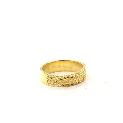 22ct 22k Solid Gold Elegant Charm Diamond Cut Ladies Ring Size R2063mon | Royal Dubai Jewellers