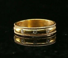 "22k Ring Solid Gold ELEGANT Charm Classic Band  SIZE 7.5 ""RESIZABLE"" r2141 - Royal Dubai Jewellers"