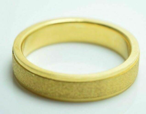 22k Yellow Gold Band Ring Mens or Ladies 5mm Width ANY SIZE AVAILABLE | Handmade