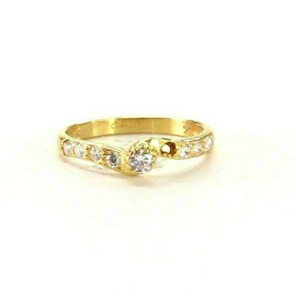 22k Ring Solid Gold ELEGANT Charm Simple Ring SIZE 6