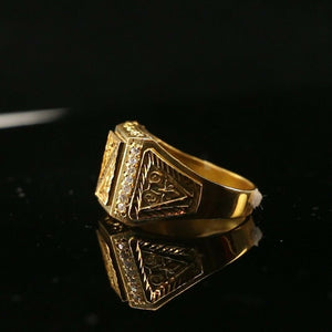 "22k Ring Solid Gold ELEGANT Charm Mens Filigree Band SIZE 10.75""RESIZABLE"" r2122"