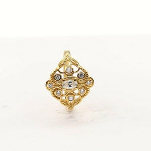 "22k 22ct Solid Gold ELEGANT Charm Ladies Simple Ring SIZE 7.75 ""RESIZABLE"" r2012 