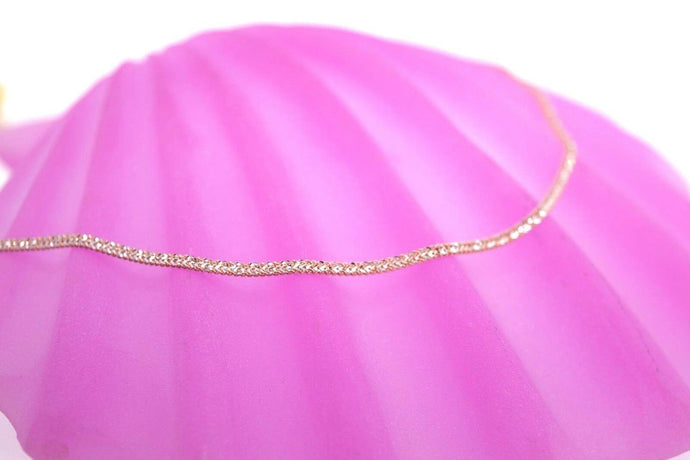 22k Chain Yellow Solid Gold Necklace Exquisite Modern TwoTone Rose Design c1063 | Royal Dubai Jewellers