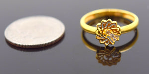 "22k 22ct Solid Gold CUTE STAR ELEGANT BABY KID Ring ""RESIZABLE"" size 4.2 r744 