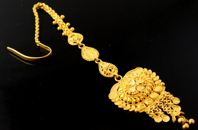 22k 22ct Solid Gold Elegant Tikka Head Accessories T40 | Royal Dubai Jewellers