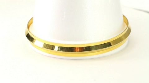 22k Bangle Solid Gold Simple Charm Diamond Cut Men Design Size 3 inch B4227