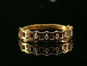 "22k Ring Solid Gold ELEGANT Charm Ladies SImple Band  SIZE 7 ""RESIZABLE"" r2144"