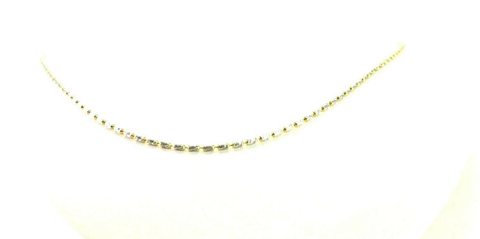 22k Chain Yellow Solid Gold  Necklace Snake and Beads Design Length 17inch c1072