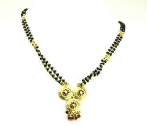 "22k Chain Yellow Solid Gold Necklace Mangulsultra Design Charm Length 30"" c3181"