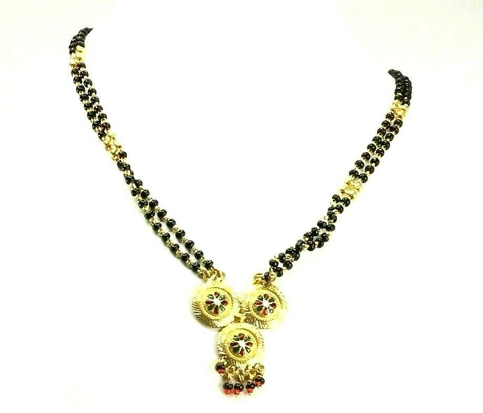 22k Chain Yellow Solid Gold Necklace Mangulsultra Design Charm Length 30