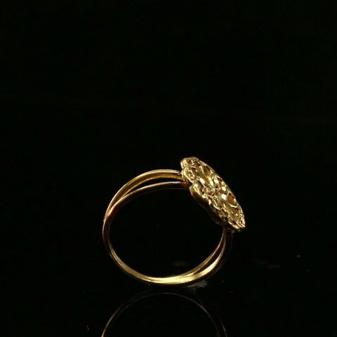 22ct 22k Solid Gold Elegant ROUND Flower Floral Ladies Ring Size R2051mon | Royal Dubai Jewellers