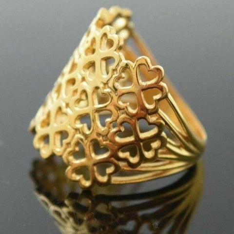 "22k 22ct Solid Gold ELEGANT Ladies Ring Floral Design SIZE 8 ""RESIZABLE"" r1706 