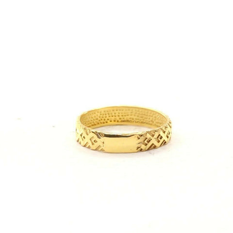 22ct 22k Solid Gold Elegant Charm X Cross Ladies Ring Size R2060mon | Royal Dubai Jewellers