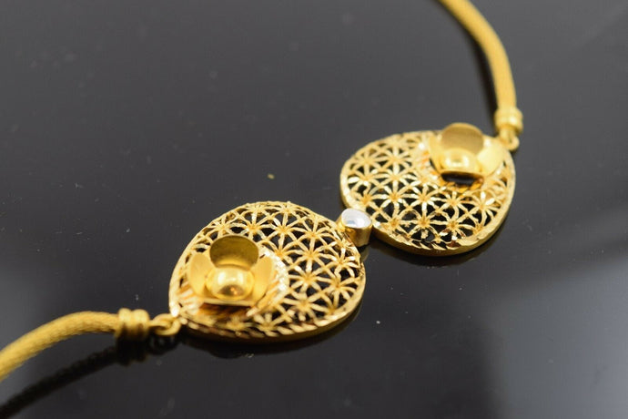22k Solid Gold ELEGANT Bracelet Unique Design length 7.5 Inch Cb219 | Royal Dubai Jewellers