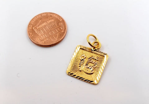 22k 22ct Solid GOLD SIKHI RELIGIOUS ONKAR PENDANT Design p1042 ns | Royal Dubai Jewellers