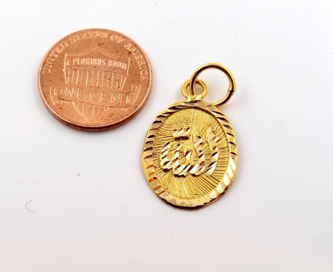 22k 22ct Solid Gold Allah islam muslim pendant quran locket p1043 ns | Royal Dubai Jewellers