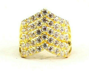 "22k Ring Solid Gold ELEGANT Charm Ladies Simple Ring SIZE 8 ""RESIZABLE"" r2622"