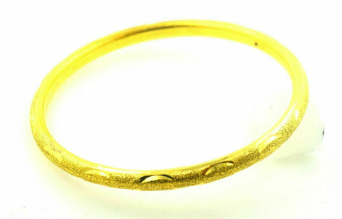 22k Solid Gold ELEGANT WOMEN BANGLE BRACELET Classic Design Size 2.5 inch B334 | Royal Dubai Jwellers