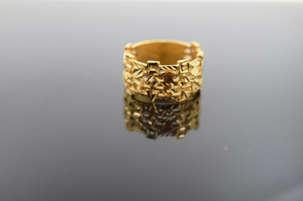 22k 22ct Solid Gold ELEGANT Charm Mens Pattern Ring SIZE 8